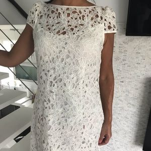 Ali-ro White Lace overlay dress